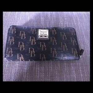Dooney&Bourke large zip around wallet